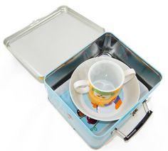Zestaw śniadaniowy dla dzieci w walizce Sówki Topchoice