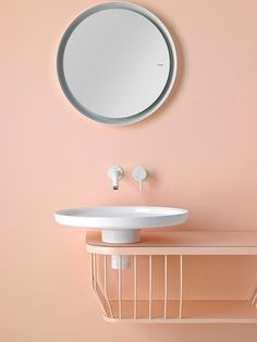 a peach bathroom Peach Bathroom, Modern Bathroom, Small Bathroom, Pastel Bathroom, Bad Inspiration, Bathroom Inspiration, Bathroom Interior Design, Modern Interior Design, Toilet Design