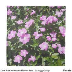 Cute Pink Periwinkle Flowers Print Duvet Covers