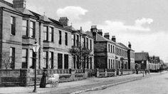 Tour Scotland Photographs: Old Photograph Crow Road Anniesland Glasgow Scotland