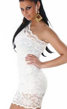 d824cd7eba Buy 2013 One Sleeve Open Shoulder Mini Dress Sexy Club Wear White Slinky  Summer Dress +Discounted Price for Mixed order from madeinchina wholesaler  on ...
