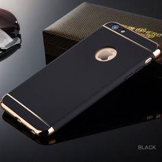 Lujo ultra delgado case cubierta a prueba de golpes para iphone 6 6 s 7 plus 3 en 1 case armor protección para teléfono i6 i6s i7 más coque case