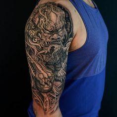 Japanese Tattoo Art, Japanese Tattoo Designs, Japanese Sleeve Tattoos, Best Sleeve Tattoos, Tattoo Sleeve Designs, Warrior Tattoos, Badass Tattoos, Body Art Tattoos, Hand Tattoos