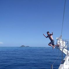 #jump #awesomeadventuresfiji #fiji #seaspraysailing #yacht #boat #holiday Tom Hanks Movies, All Beer, Sea Spray, Sailing Adventures, Yacht Boat, Crystal Clear Water, Snorkelling, South Seas, Turquoise Water