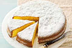 Mandarin and olive oil cake. We're completely smitten with the season's sweet, fragrant mandarins, especially in this delicious Italian torta. It's moist and tangy, with just a hint of fruity olive oil. Almond Recipes, Baking Recipes, Cake Recipes, Mandarine Recipes, Mandarin Cake, Olive Oil Cake, Almond Cakes, Turkish Recipes, Food Cakes