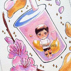 Sakura milk tea!