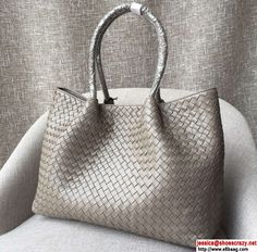 Bottega Veneta Shopping Bag with Clutch Gray 2016
