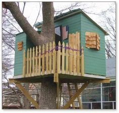 Kauri treehouse with shutters - plans for sale for $39