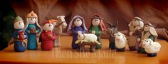 Then she made...: Then She Made...Nativity Tutorials  Make a Nativity- one piece (or two) per month and you'll have the set by December