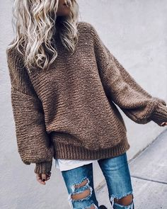 Popular Fall Outfits For Women Ideas With Sweater - Fashionable Cute Women casual winter outfits Winter Outfits For Teen Girls, Simple Winter Outfits, Fall Outfits 2018, Cute Teen Outfits, Fall Outfits For Work, Casual Fall Outfits, Mode Outfits, Autumn Outfits, Autumn Casual
