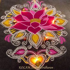 #lotus beautiful rangoli