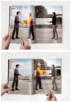 DHL: turning page #publicidade