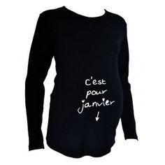 NEUF-Tee-shirt-noir-janvier-TU-Kelmoi