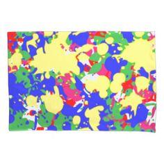 Paint Splatter Pillowcase