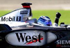Mika Hakkinen – winner of the 2001 United States Grand Prix driving for McLaren-Mercedes.