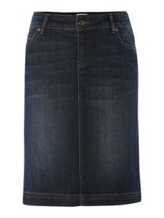 Denim doesn't have to mean jeans - Linea Weekend Denim skirt