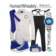 """Wheatley - Portal 2"" by chelsealauren10 on Polyvore<--that's pretty neat...maybe with a lab coat? Then it would be a full cosplay, not a more casual one c;"