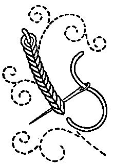 Heavy chain stitch - Categoría: puntadas de bordado - Wikimedia Commons