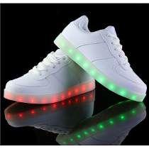 (Presente:pequeña toalla)Dorado EU 40, 7 Mujeres colores Hombres LED Zapatos de plata Ligh