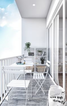 Modern Scandinavian Design for Home Interior Completed with Kids Room Design Small Balcony Design, Small Balcony Decor, Garden Ideas For Small Balcony, Balcony Garden, Apartment Interior Design, Interior Design Living Room, Apartment Ideas, Room Deco, Scandinavian Design