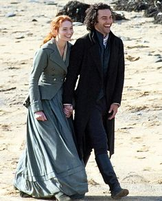 Eleanor and Aidan filming Poldark S3 Shooting on-location for the third series of the BBC hit in Gunwalloe, the 33-year-old actor and his co-star, 24, appeared to be in high spirits - joking around in-between takes.