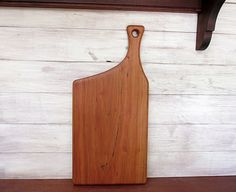 Wooden Cutting Board, Cherry, Offset Handle on Etsy, $44.88 AUD