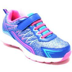 Danskin Now Girls Glitter Athletic Shoe, Infant Girl's, Size: 1, Blue