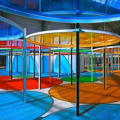 Monumenta 2012 Daniel Buren, the Grand Palais, Paris, France City Architecture, Concept Architecture, Landscape Structure, Landscape Design, Daniel Buren, Interactive Art, Light And Space, Commercial Art, Famous Art