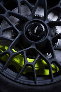 Check this out on leManoosh.com: #Aston Martin #Black #Button #Car #casting #Color Accent #Exhaust pipe #Grip #Matte #Neon color #Sport #Structure #Texture #Transport #Wheels