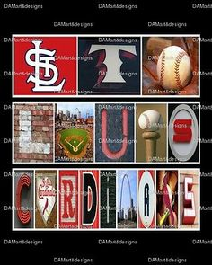 St. Louis Cardinals MLB Framed Alphabet Photo Art