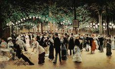 Der Ball im Park (1880) von Jean Beraud (geboren am 12. Januar 1849 in Sankt Petersburg, gestorben am 4. Oktober 1935 in Paris), französischer Maler und Graphiker.