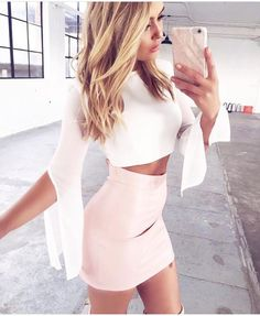 30 Summer And Popular Outfits Of Tiger Mist Australian Label White Top + Pink Skirt Sexy Outfits, Skirt Outfits, Sexy Dresses, Dress Skirt, Summer Outfits, Cute Outfits, Fashion Outfits, Summer Dresses, Womens Fashion
