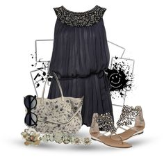 """happy summer in black"" by mrswomen on Polyvore"