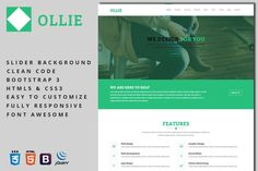 Ollie - Business Template. Bootstrap Themes. $8.00