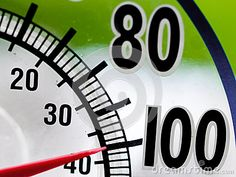 Somebody's being optimistic... Just sold on Dreamstime  Heat Wave 100 Degree Window Thermometer with red pointern