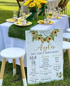 Right before lockdown we did this fabulous first birthday event for baby Ayla who's mum just loves sunflowers. We pulled out all the… Birthday Decorations, Table Decorations, Sunflower Party, Cookie Desserts, Baby Birthday, Sunflowers, Just Love, First Birthdays, Sydney