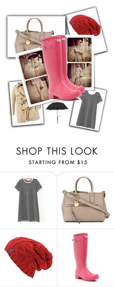 """""""RainNfashion"""" by mary-thor ❤ liked on Polyvore featuring WithChic, Marc Jacobs and Hunter"""