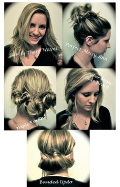 5 easy hairstyles for medium, long, wavy, curly or straight hair