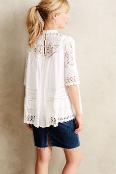 Chaine Peasant Top - anthropologie.com