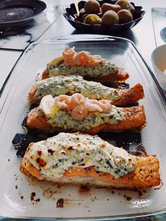 I Love Food, Good Food, Yummy Food, Seafood Recipes, Cooking Recipes, Zeina, Scandinavian Food, Salmon Dishes, Fish Dinner