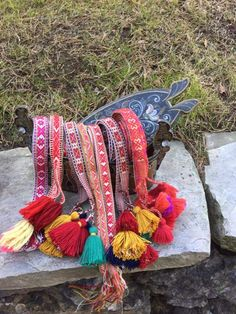 Norway, Friendship Bracelets, Hand Embroidery, Scandinavian, Tassels, Art Projects, Bands, Weaving, Costumes