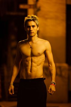 "Mmmmm  Jared Leto from 30 Seconds to Mars' ""Hurricane"" video....need I say more?  So going to watch that video right now...."