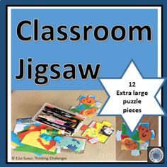 Classroom jigsaw: Piecing it together is a multi- use jigsaw puzzle template for 12 puzzle pieces that fit together when completed. Print on card for students to cut out and decorate with whatever is available.Suggestions for use: Higher Order Thinking, Critical Thinking Skills, Class Projects, Puzzle Pieces, Math Centers, Teacher Resources, Literacy, Jigsaw Puzzles, Challenges