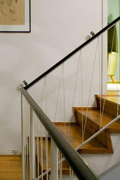 Bannister, Loft Style, Brick, Hall, New Homes, Living Room, Interior Design, House, Arne Jacobsen