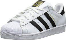 size 40 db3dc e11c5 adidas Originals Women s Superstar Foundation Casual Sneaker, White Black White,  M US