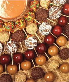 Harvest Festival Idea. Candy Apple Bar