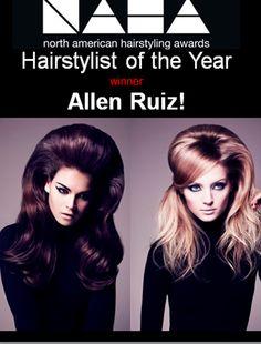 Hairstylist of the Year Allen Ruiz!