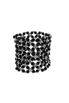 Nour London Beaded Crystal Cuffs/Bracelets.  Stunning beaded and crystal cuffs are real statement pieces.  Stretchy cuffs so one size fits all.  Available in various colour ways.  Width is: 7cms Beaded Crystal Cuffs by Nour London. Accessories - Jewelry - Bracelets Crouch End Haringey North London London