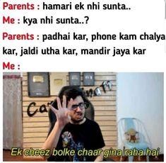 1 bol kr 4 ginwate h . Crazy Jokes, Funny Texts Jokes, Funny Fun Facts, Sarcastic Jokes, Very Funny Memes, Latest Funny Jokes, Funny Jokes In Hindi, Funny School Jokes, Some Funny Jokes