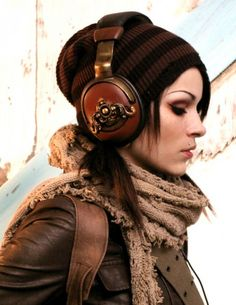 Steampunk headphones -- might do this instead of hair buns for my Leia costume